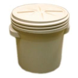 20 Gal. (Beige) Lab Pack, Screw-on Lid, 1650BEI