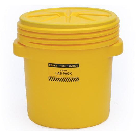 20 Gal. (Yellow) Lab Pack, Screw-on Lid, 1650