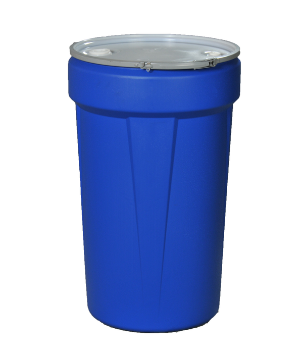 (1 Pallet - qty: 36) 55 Gal. (Blue) Lab Pack, Metal Lever-Lock Ring, Bung Lid, 1655MB-BG