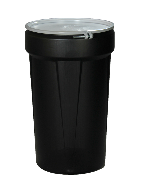 55 Gal. (Black) Lab Pack, Bolt-Ring, Bung Lid, 1655MBLK-BRBG
