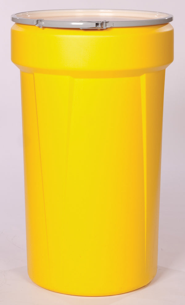 (1 Pallet - qty: 36) 55 Gal. (Yellow) Lab Pack, Metal Lever-Lock Ring, Bung Lid, 1655M-BG