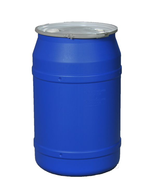 (1 Pallet - qty: 8) 55 Gal. (Blue) Lab Pack, Metal Lever-Lock Ring, Bung Lid, 1656MBBG