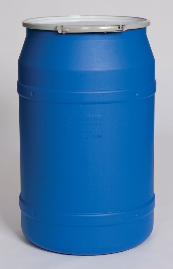 (1 Pallet - qty: 8) 55 Gal. (Blue) Lab Pack, Metal Lever-Lock Ring, Bung Lid, 1656MB-BG2