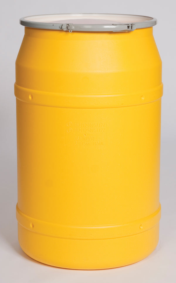 (1 Pallet - qty: 8) 55 Gal. (Yellow) Lab Pack, Metal Lever-Lock Ring, Bung Lid, 1656M-BG2
