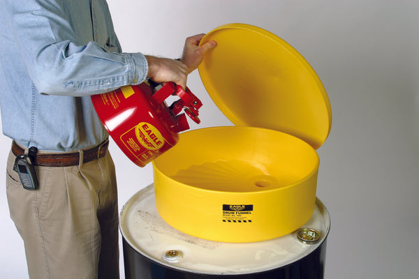 Drum Funnel - Yellow - Outdoor Containment