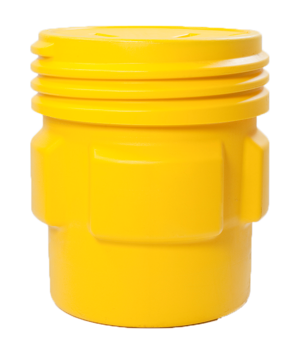 65 Gal. (Yellow) Overpack, Screw Lid, 1661