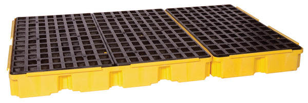 6 Drum Yellow Containment Platform w/ Drain Yellow Model # 1686D - Spill Platforms & Pallets