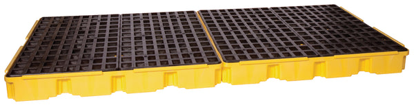 8 Drum Yellow Containment Platform w/ Drain Yellow Model # 1688D - Spill Platforms & Pallets