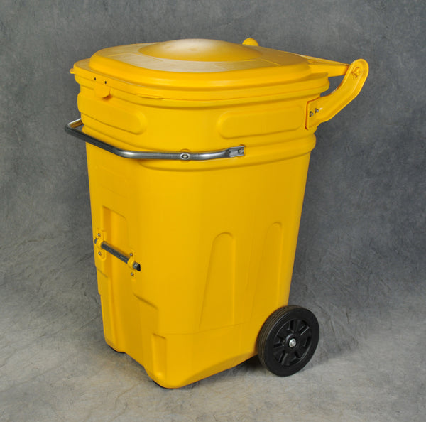 65 Gal Wheeled Spill Kit E-Cart w/ Yellow Lid (Yellow) Model # 1696Y - Spill Platforms & Pallets