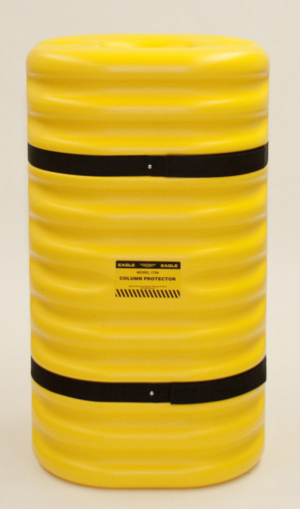 "Material Handling Protective Products Column Protector 9"" Column Protector, Yellow"