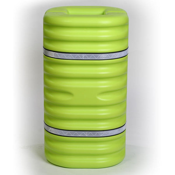 "Material Handling Protective Products Column Protector 12"" Column Protector, Lime W/Reflective Bands"