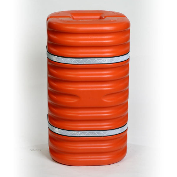 "Material Handling Protective Products Column Protector 8"" Column Protector, Orange W/Reflective Bands"