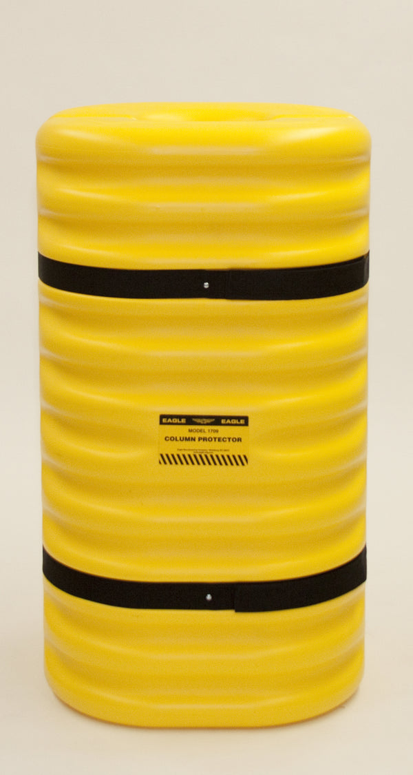 "Material Handling Protective Products Column Protector 12"" Column Protector, Yellow"