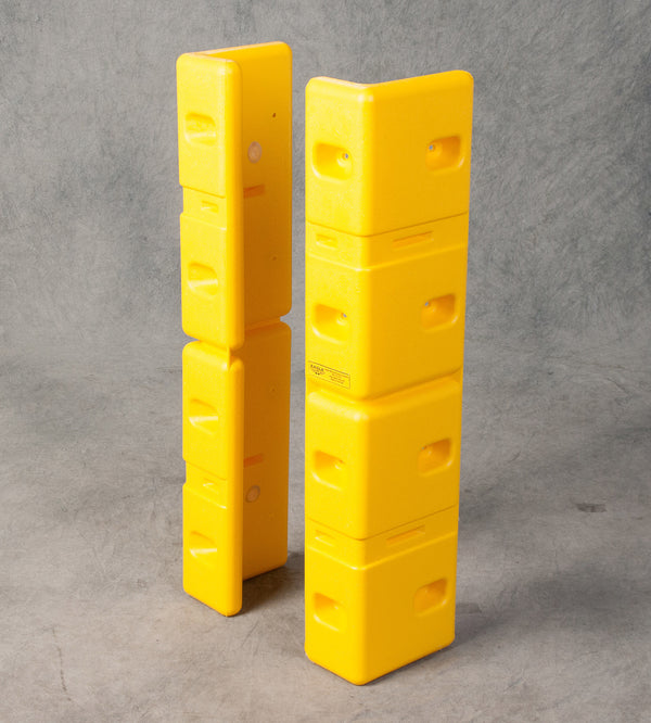 Material Handling Protective Products Corner Guard Large Corner Protector (Set Of 2) Yellow