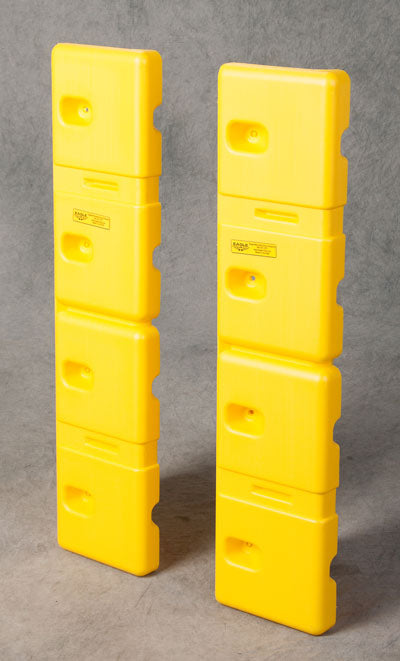 "Material Handling Protective Products Wall Guard 8"" Wall Protector (Set Of 2) Yellow"