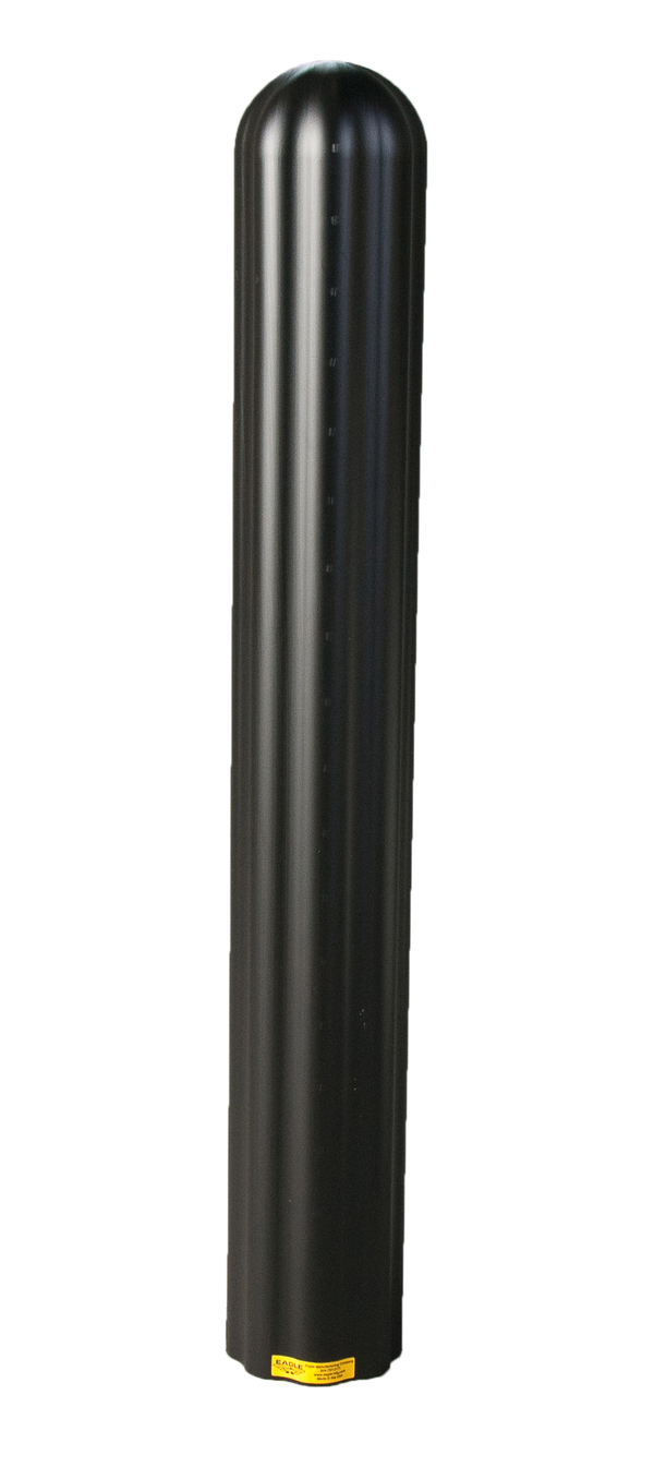 "Material Handling Post Sleeves Ribbed 8"" Bumper Post Sleeve-Black"