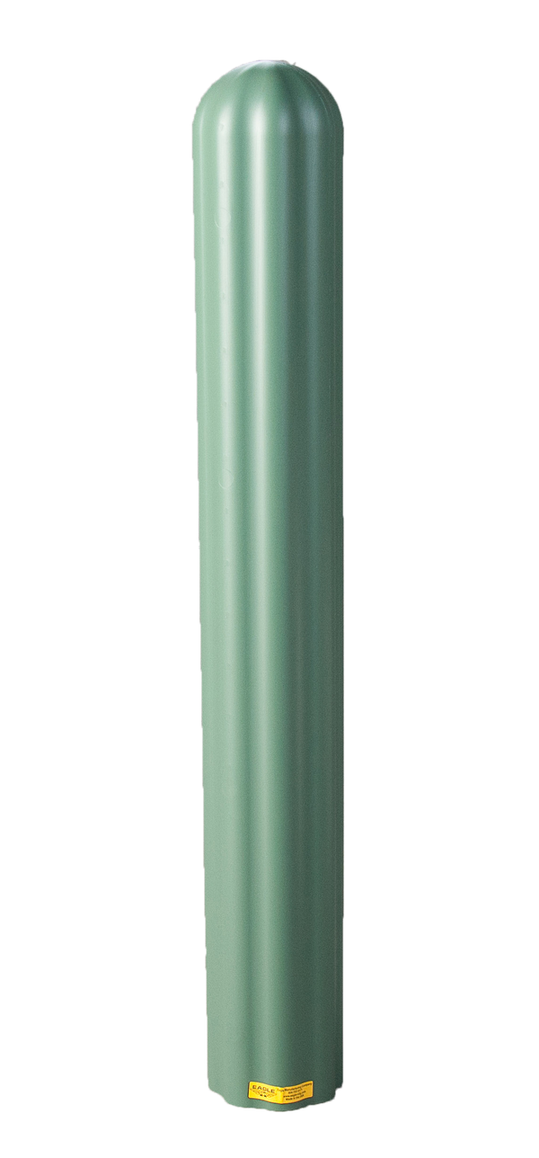 "Material Handling Post Sleeves Ribbed 6"" Bumper Post Sleeve-Green"