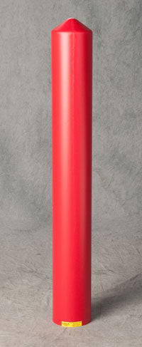 "Material Handling Post Sleeves Smooth 8"" Bumper Post Sleeve-Smooth Sided-Red"