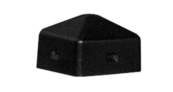 "Material Handling Bollard Posts 5"" Square Post Cap Black"