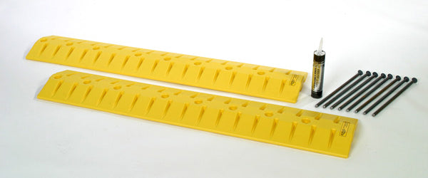 Material Handling Traffic Safety Speed Bumps Speed Bump/Cable Crossing Kit, 9 Ft. Yellow