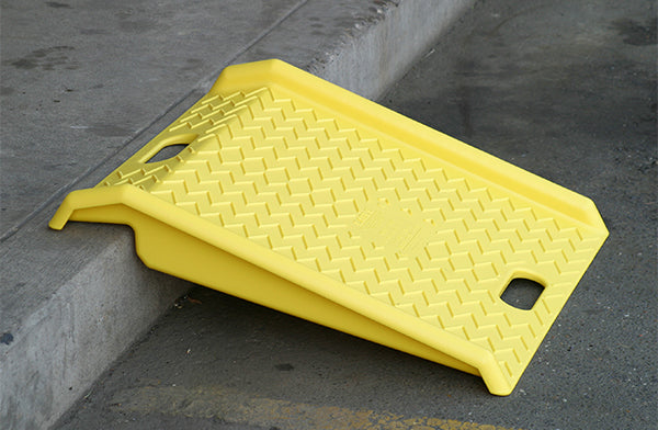 Material Handling Ramps & Dock Plates Curb Ramp Poly Curb Ramp-Yellow (1000 # Load) Yellow