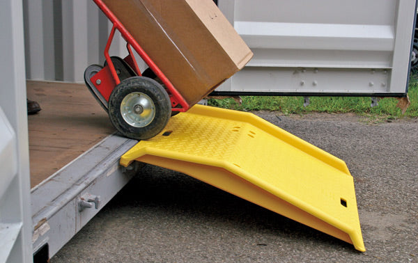 Material Handling Ramps & Dock Plates Container Ramp Shipping Container Ramp-Polyethylene Yellow