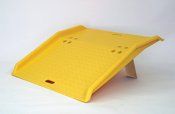 Material Handling Ramps & Dock Plates Dock Plates Portable Poly Dock Plate For Hand Trucks Yellow