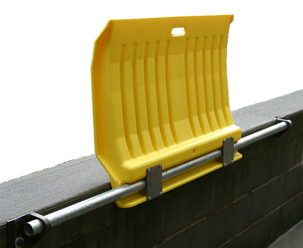 Material Handling Ramps & Dock Plates Dock Plates Fixed Poly Dock Plate For Hand Trucks Yellow