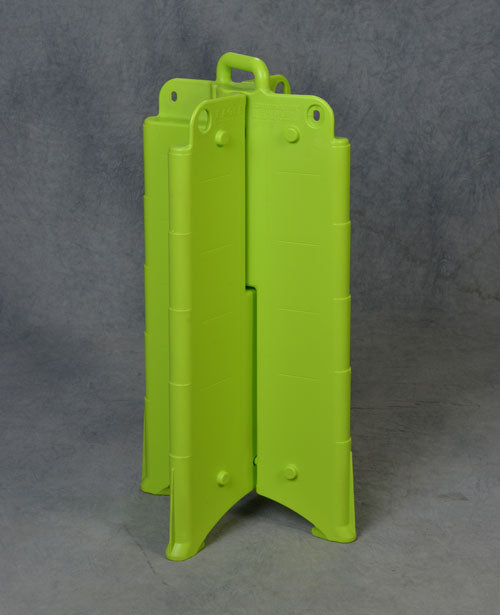 Material Handling Traffic Safety Barricades Barricade, Lime, No Sheeting
