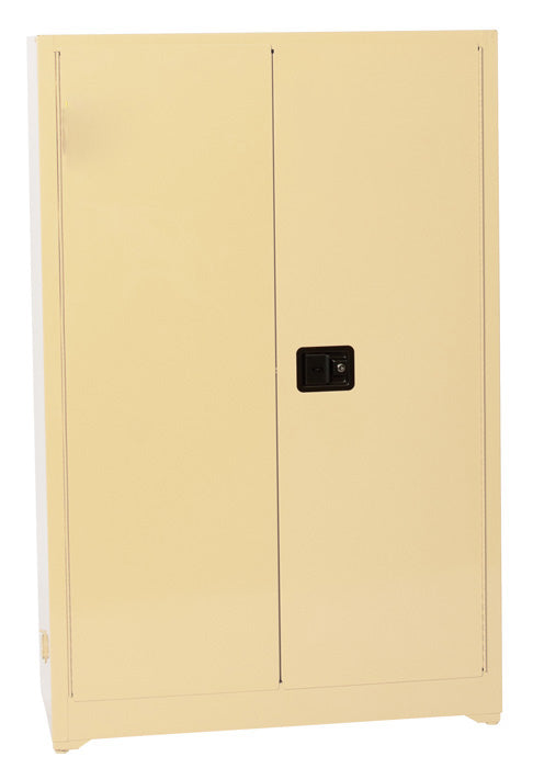 Safety Storage Cabinets Office Supply Standard 45 Gal. Beige Beige Office Supply-2-Doors Manual, 4 Painted Shelves