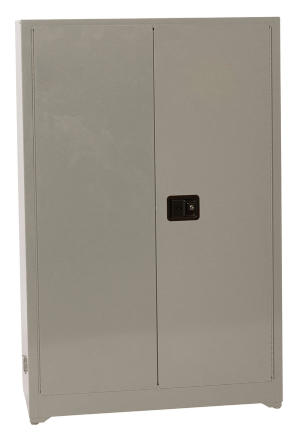 Safety Storage Cabinets Office Supply Standard 45 Gal. Gray Gray Office Supply-2-Doors Manual, 4 Painted Shelves