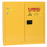 Safety Storage Cabinets Flammable Liquids Wall-Mount 24 Gal. Yellow Two Door Self-Closing Three Shelves