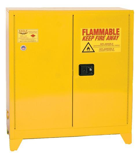 Safety Storage Cabinets Flammable Liquids Workbench 60 Gal. Yellow Workbench Cabinet Self-Closing One Shelf