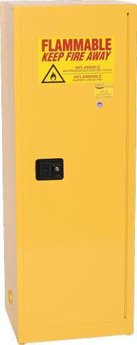 Safety Storage Cabinets Flammable Liquids Under-Counter 22 Gal. Yellow Two Door Manual One Shelf