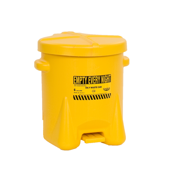 6 Gal. Yellow Oily Waste Can