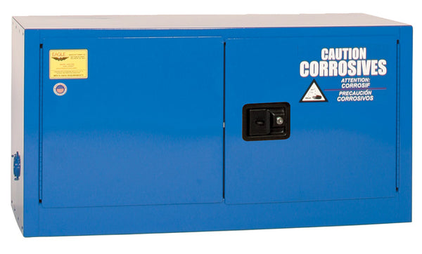 Safety Storage Cabinets Acid/Corrosive ADD-ON 15 Gal. (Blue) Two Door Manual **Optional Shelf
