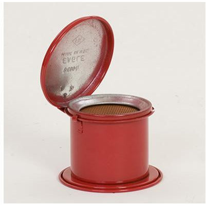 Bench Cans - 1/2 Pt. Metal - Red Daub Can - Safety Cans