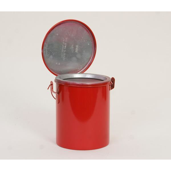 Bench Cans - 6 Qt. Metal - Red Bench Can - Safety Cans