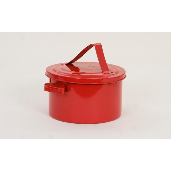 Bench Cans - 8 Qt. Metal - Red Bench Can - Safety Cans