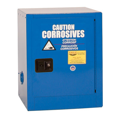 Safety Storage Cabinets Acid/Corrosive Bench Top 4 Gal. (Blue) One Door Self-Closing