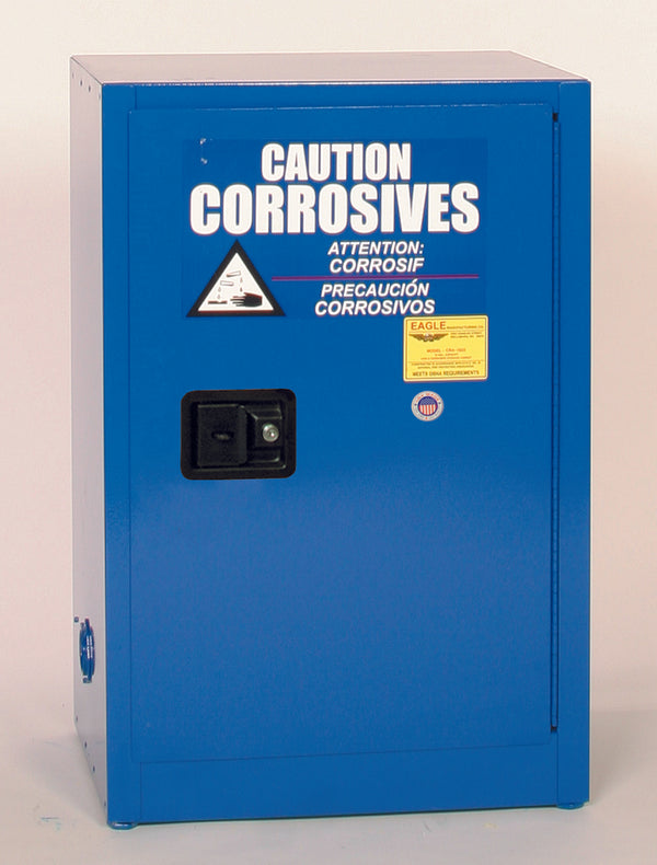 Safety Storage Cabinets Acid/Corrosive Space Saver 12 Gal. (Blue) One Door Manual Close One Shelf