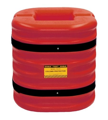 "Material Handling Protective Products Column Protector 12"" Column Protector, 24"" High, Red"