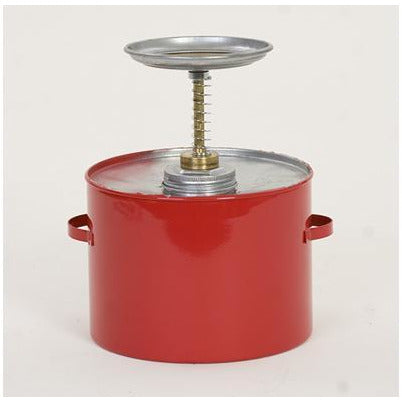 Plunger Cans - 4 Qt. Metal - Red - Safety Cans