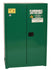 Safety Storage Cabinets Pesticide/Poisons Standard 45 Gal. Green Two Doors Manual Two Shelves