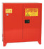 Safety Storage Cabinets Paint/Ink Tower 40 Gal. Red Two Door Manual Close Three Shelves