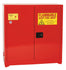 Safety Storage Cabinets Paint/Ink Standard 40 Gal. Red Two Door Manual Three Shelves