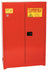 Safety Storage Cabinets Paint/Ink Standard 60 Gal. Red One Door Self-Closing Five Shelves