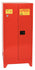 Safety Storage Cabinets Paint/Ink Tower 96 Gal. Red Two Door Manual Close Five Shelves