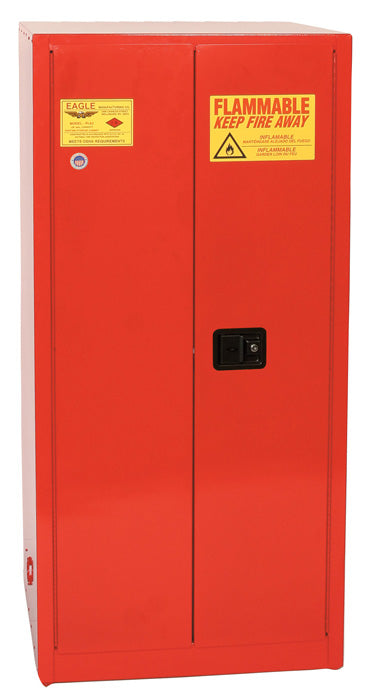 Safety Storage Cabinets Paint/Ink Standard 96 Gal. Red Two Door Manual Close Five Shelves