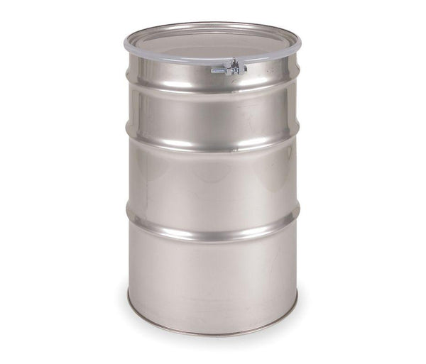 55 Gallon Open Head Stainless Steel Drum Model #ST5501